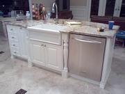 Kitchen cabinets,  kitchen remodel: Boynton Beach,  Fl.  cabinet refacing and countertops